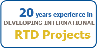 15 years experience in developing international RTD Projects
